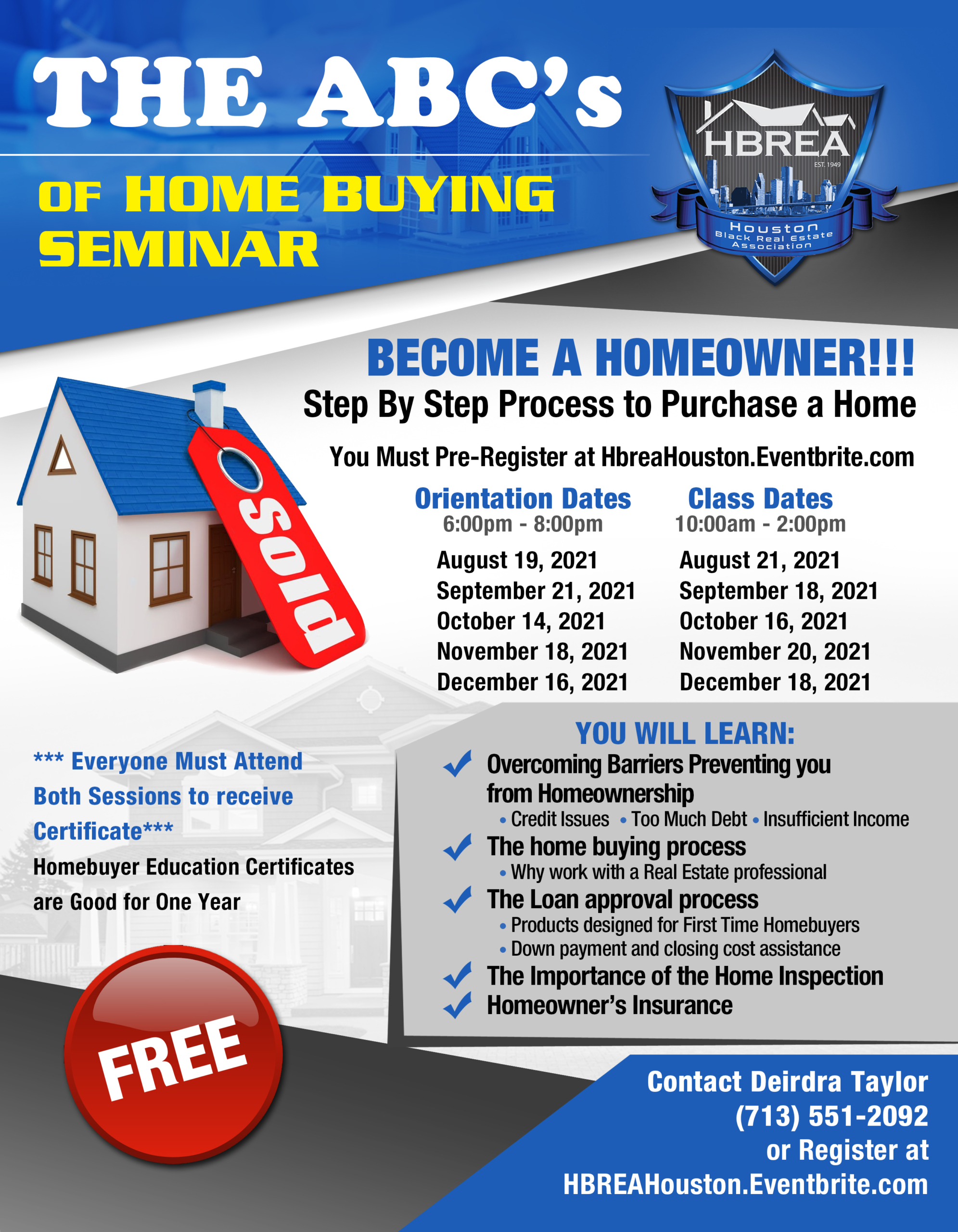 HBREA - The ABC's of Home Buying Webinar