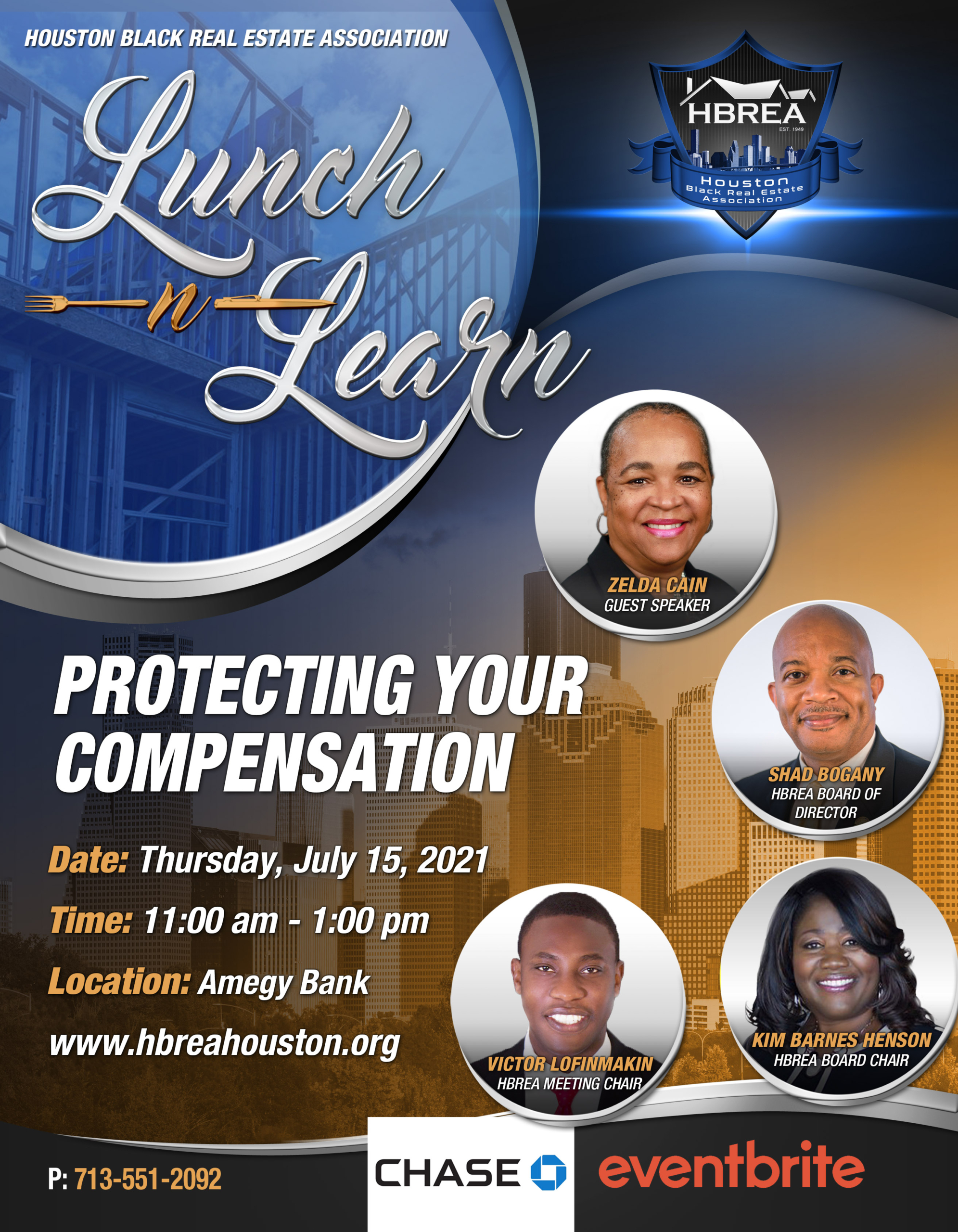 HBREA - Amegy Bank - Lunch-n-Learn - Protecting Your Compensation - Zelda Cain, Shad Bogany, Kim Barnes-Henson, Victor Lofinmakin