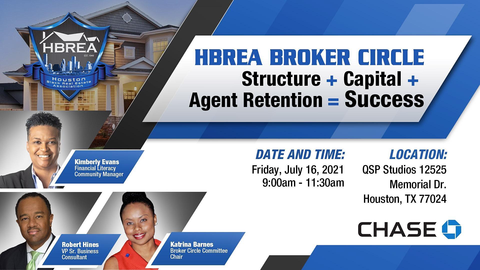 HBREA Broker Circle - Chase Bank - Kimberly Evans, Robert Hines, Katrina Barnes