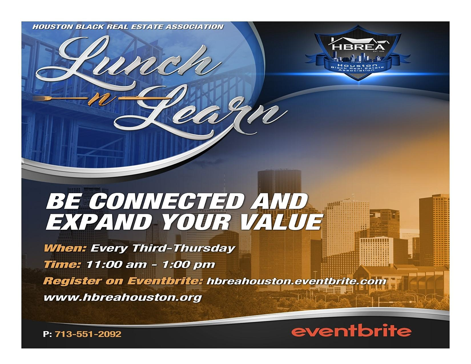 Lunch-n-Learn - HBREA - Be Connected and Expand Your Value